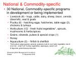 national commodity specific