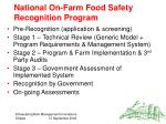 national on farm food safety recognition program