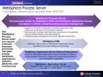 websphere process server leveraging infrastructure services from was nd
