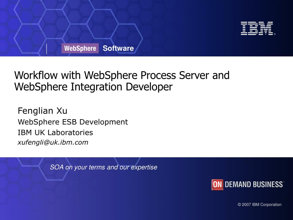 workflow with websphere process server and websphere integration developer l.