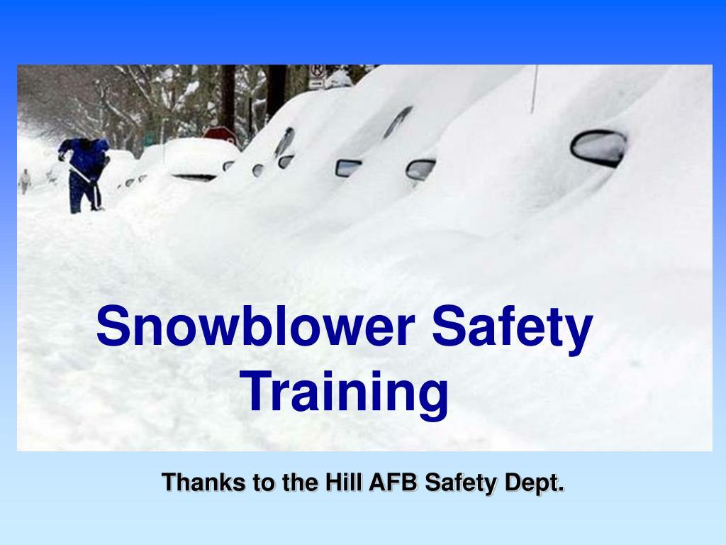 snowblower safety training l.
