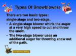 types of snowblowers