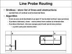line probe routing