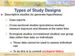 types of study designs