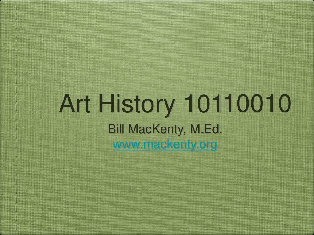 art history 101 l.