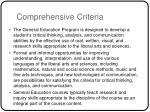 comprehensive criteria