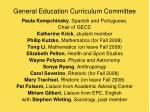 general education curriculum committee
