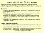 international and global issues