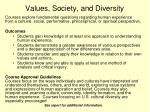 values society and diversity