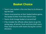 basket choice