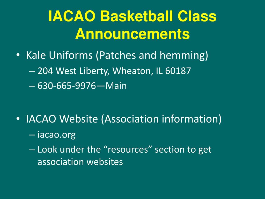iacao basketball class announcements l.