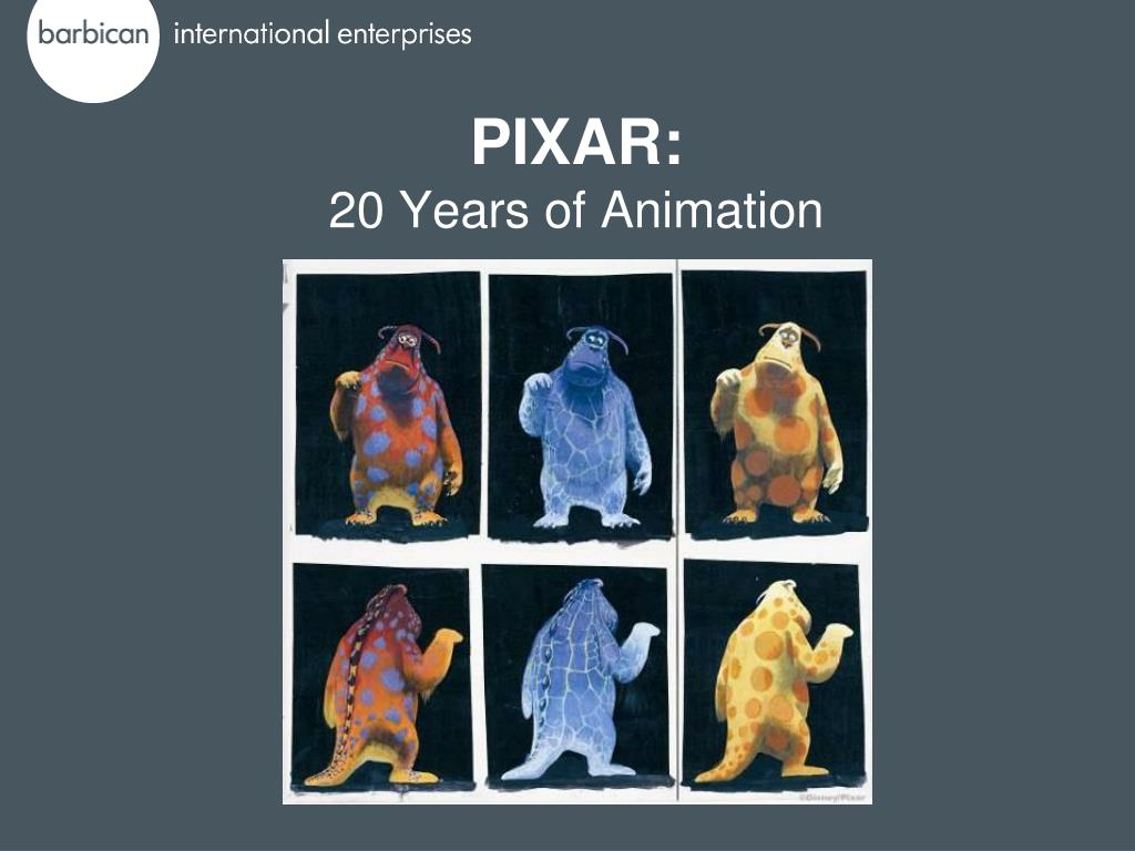 pixar 20 years of animation l.