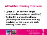 affordable housing provision