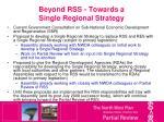 beyond rss towards a single regional strategy