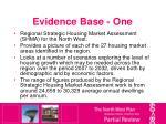 evidence base one