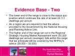 evidence base two
