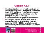 option a1 1