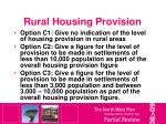 rural housing provision