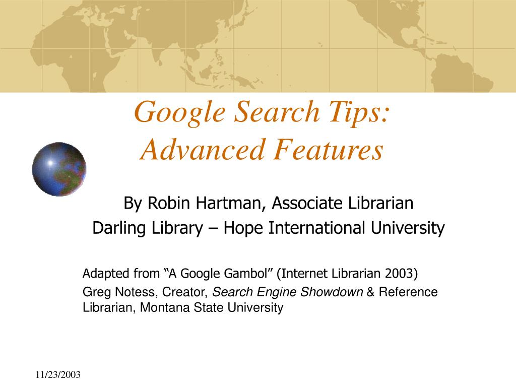 google search tips advanced features l.