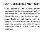 fuente de energia y nutrici n