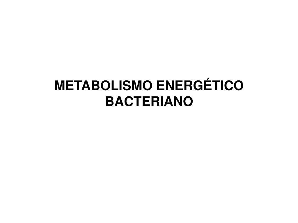 metabolismo energ tico bacteriano l.
