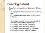 coaching defined
