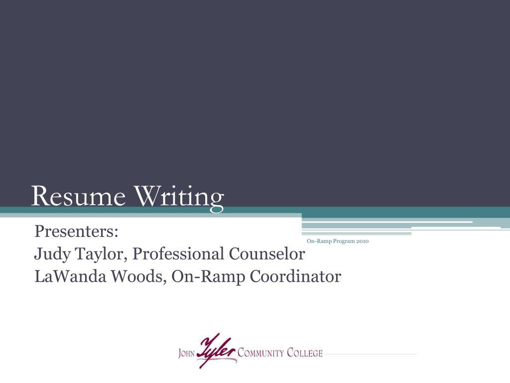 resume writing l.