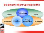 building the right operational mix