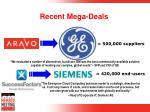 recent mega deals