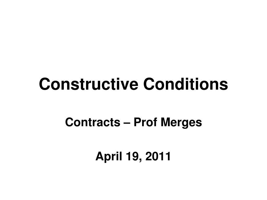 constructive conditions l.