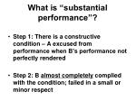 what is substantial performance