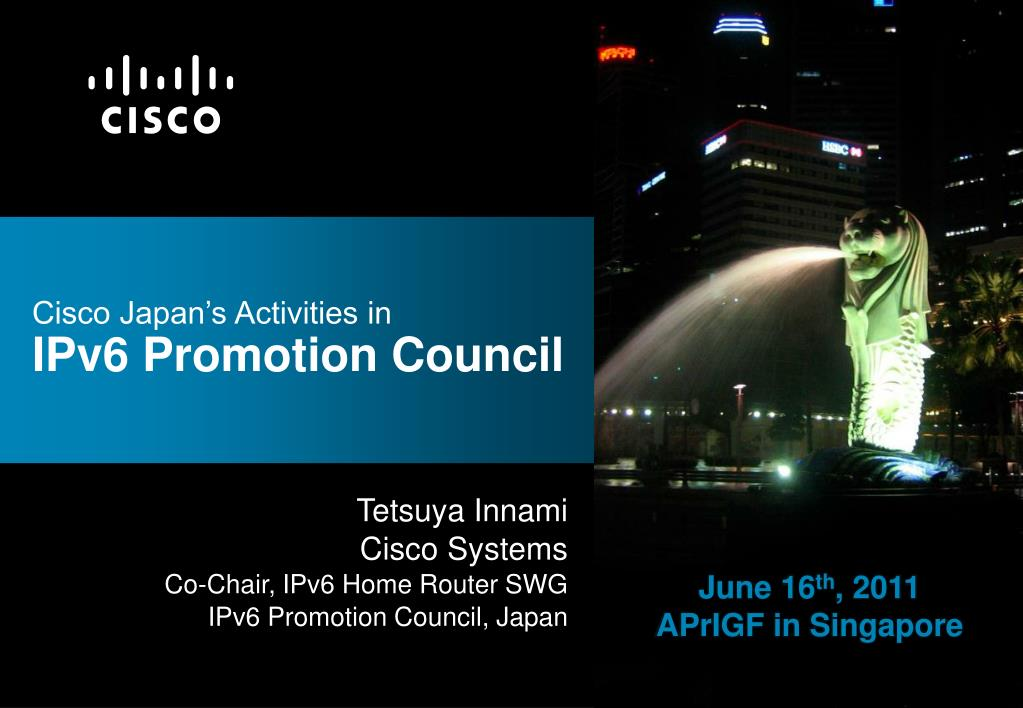 cisco japan s activities in ipv6 promotion council l.