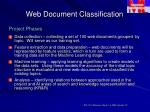 web document classification