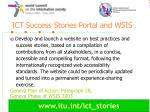 ict success stories portal and wsis