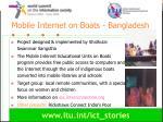 mobile internet on boats bangladesh