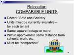 relocation comparable units
