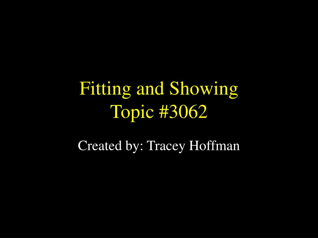 fitting and showing topic 3062 l.
