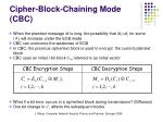 cipher block chaining mode cbc