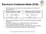 electronic codebook mode ecb