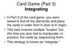 card game part 3 integrating