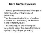 card game review