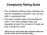 complexity rating scale
