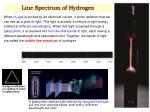 line spectrum of hydrogen