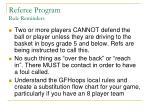 referee program rule reminders