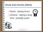 acute and chronic effects