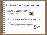acute and chronic exposures
