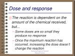 dose and response