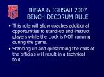 ihsaa ighsau 2007 bench decorum rule40