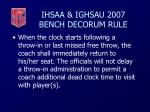 ihsaa ighsau 2007 bench decorum rule44