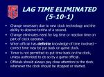 lag time eliminated 5 10 1